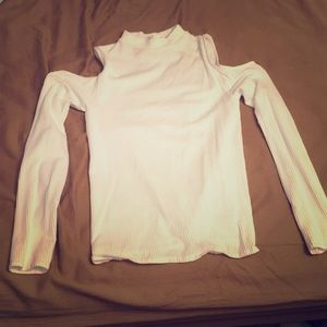 Forever 21 cold shoulder long sleeve sexy top
